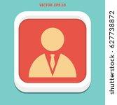 businessman icon   Shutterstock .eps vector #627738872