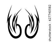 tattoo tribal vector designs.... | Shutterstock .eps vector #627740582