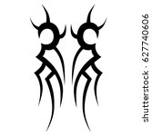 tribal tattoo art designs.... | Shutterstock .eps vector #627740606
