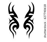 tattoo tribal vector design.... | Shutterstock .eps vector #627740618