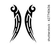 tattoo tribal vector designs.... | Shutterstock .eps vector #627740636