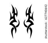tribal tattoo art designs.... | Shutterstock .eps vector #627740642