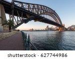 beautiful sunrise over opera... | Shutterstock . vector #627744986