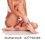 young woman with slim body ... | Shutterstock . vector #627746186