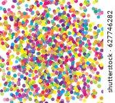 multicolored paper confetti on... | Shutterstock .eps vector #627746282