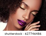 beautiful young african... | Shutterstock . vector #627746486