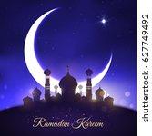 ramadan kareem greeting with... | Shutterstock .eps vector #627749492