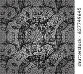seamless royal luxury gray... | Shutterstock . vector #627749645
