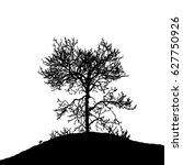 realistic tree silhouette ...   Shutterstock .eps vector #627750926