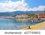 promenade in one of the towns... | Shutterstock . vector #627755852
