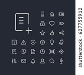document add icon in set on the ...