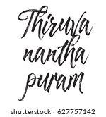 thiruvananthapuram  text design.... | Shutterstock .eps vector #627757142