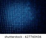 blue texture   binary digital... | Shutterstock . vector #627760436