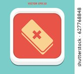 first aid icon in trendy flat...