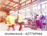 blurred motion of business... | Shutterstock . vector #627769466