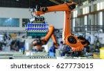 factory 4.0 concept. industrial ...   Shutterstock . vector #627773015