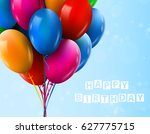 3d realistic colorful bunch of... | Shutterstock .eps vector #627775715