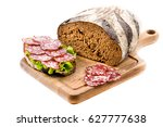 bread and a sandwich with... | Shutterstock . vector #627777638