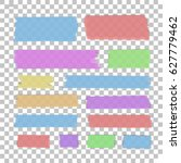 isolated sticky tape pieces on... | Shutterstock .eps vector #627779462