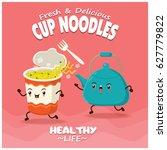 vintage cup noodles poster... | Shutterstock .eps vector #627779822