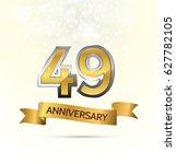 49 years anniversary... | Shutterstock .eps vector #627782105