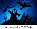 halloween night with ghost | Shutterstock . vector #62778496