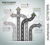 road way infographic template 5 ... | Shutterstock .eps vector #627787898
