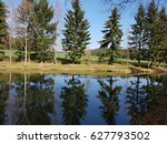 pond  fish pond | Shutterstock . vector #627793502