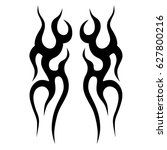 tribal tattoo art designs.... | Shutterstock .eps vector #627800216