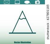vector mountains icon symbol | Shutterstock .eps vector #627801185