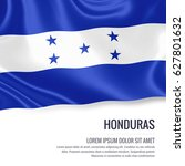 silky flag of honduras waving... | Shutterstock . vector #627801632