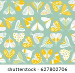 seamless pattern with different ... | Shutterstock .eps vector #627802706