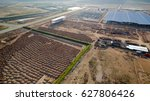 aerial view construction site... | Shutterstock . vector #627806426