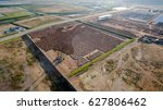 aerial view construction site... | Shutterstock . vector #627806462