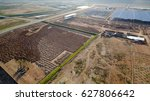 aerial view construction site... | Shutterstock . vector #627806642