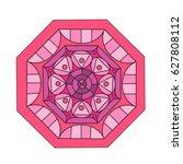 flower mandalas. decorative... | Shutterstock .eps vector #627808112
