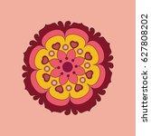 flower mandalas. decorative... | Shutterstock .eps vector #627808202