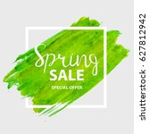 abstract green design spring... | Shutterstock .eps vector #627812942