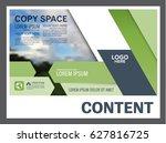 presentation layout design... | Shutterstock .eps vector #627816725