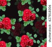 elegant seamless pattern with... | Shutterstock .eps vector #627818306