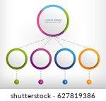 modern infographic template... | Shutterstock .eps vector #627819386
