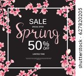 abstract design spring sale... | Shutterstock .eps vector #627820205
