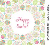 invitation happy easter... | Shutterstock .eps vector #627821582
