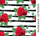 elegant seamless pattern with... | Shutterstock .eps vector #627823826