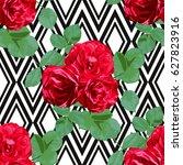 elegant seamless pattern with... | Shutterstock .eps vector #627823916
