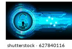 safety concept  closed padlock...   Shutterstock .eps vector #627840116