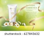 ads template  blank skin care...   Shutterstock .eps vector #627843632