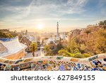 view of barcelone from the park ... | Shutterstock . vector #627849155