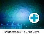 2d medical structure background | Shutterstock . vector #627852296