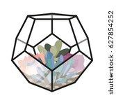 vector illustration with glass...   Shutterstock .eps vector #627854252